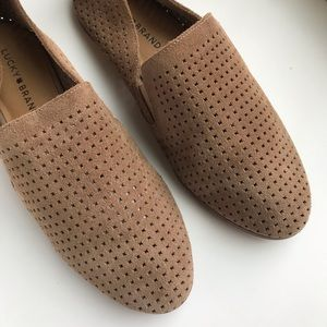 Lucky Brand Slip-on Perforated Loafer Suede Flat